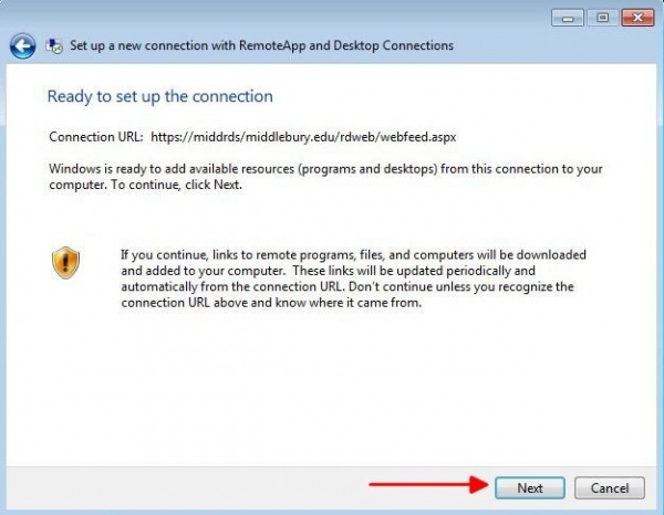Using Remote Desktop Services on a PC - Library & ITS Wiki