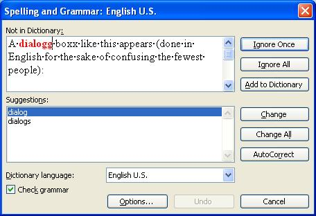 Spelling And Grammar Checking With Office 2003 In English