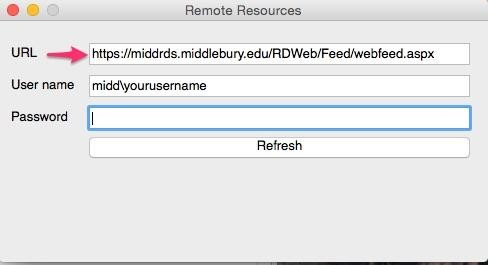Using Remote Desktop Services on a Mac - Library & ITS Wiki