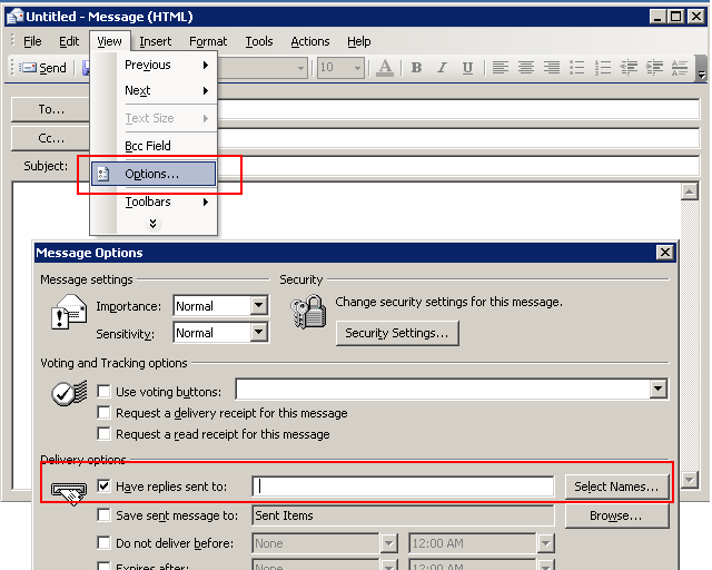 Set reply to address in Outlook 2003.PNG