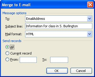 Sending Letters Via Email Using The Mail Merge Helper In MS Word ...