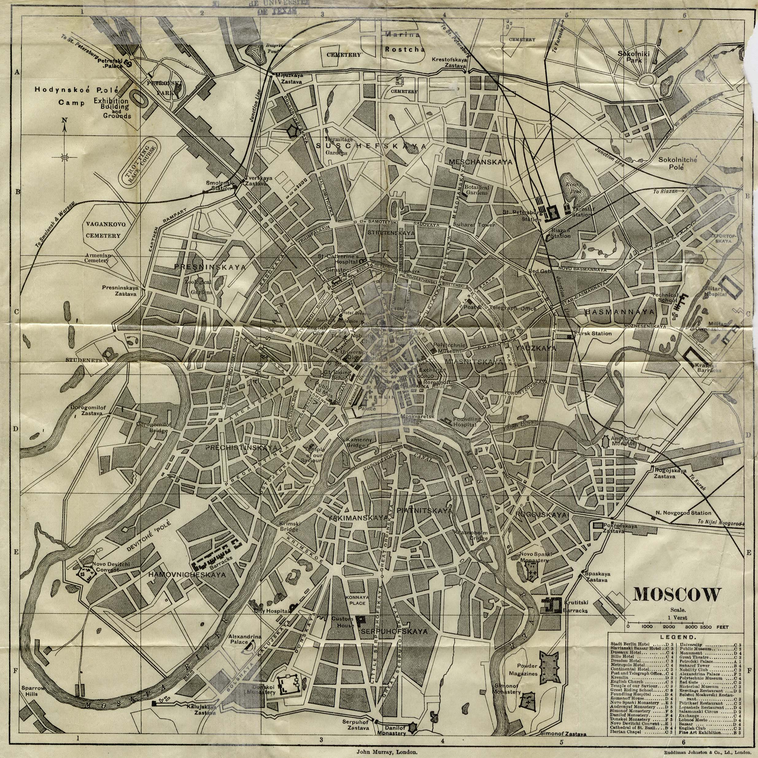 Moscowjpg Map 1875 The Golden Age Maps
